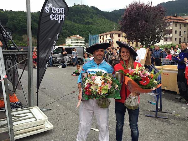 Alberto Diaz eta Ibone Sanchez, triatloiko irabazleak