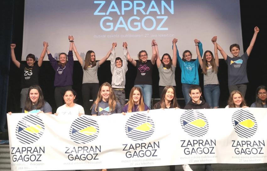 Zapran gagoz Lekeitio Euskal Eskola Publiko Jaia egitarau aurkezpen