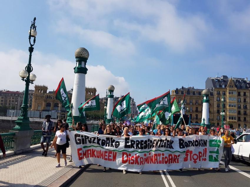 ELAk Donostian egin duen mobilizazioa. Argazkia: ELA