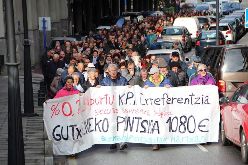 Bizkaiko Pentsionistak Martsxanen manifestazioa