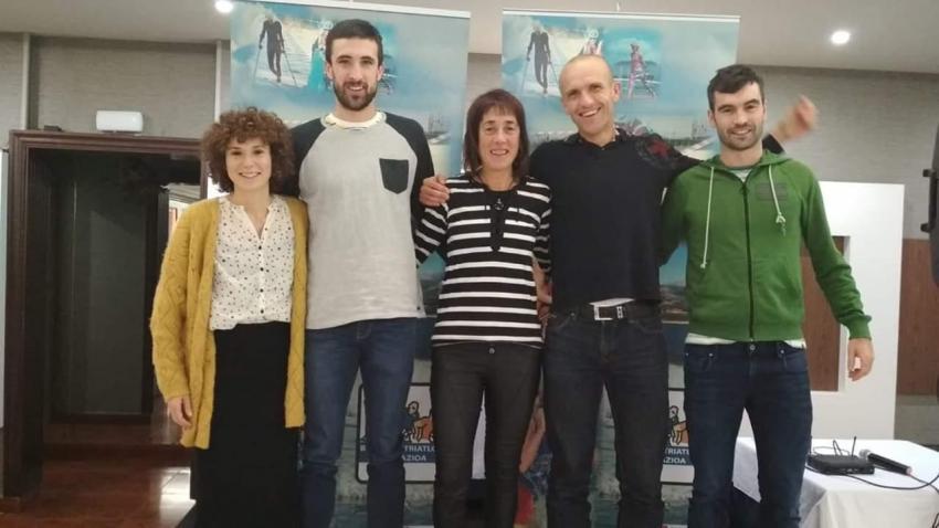 Ioana Osa, Ander Okamika, Arantza Burgoa, Zorion Kareaga eta Haritz Garate. Argazkia: Amandarri