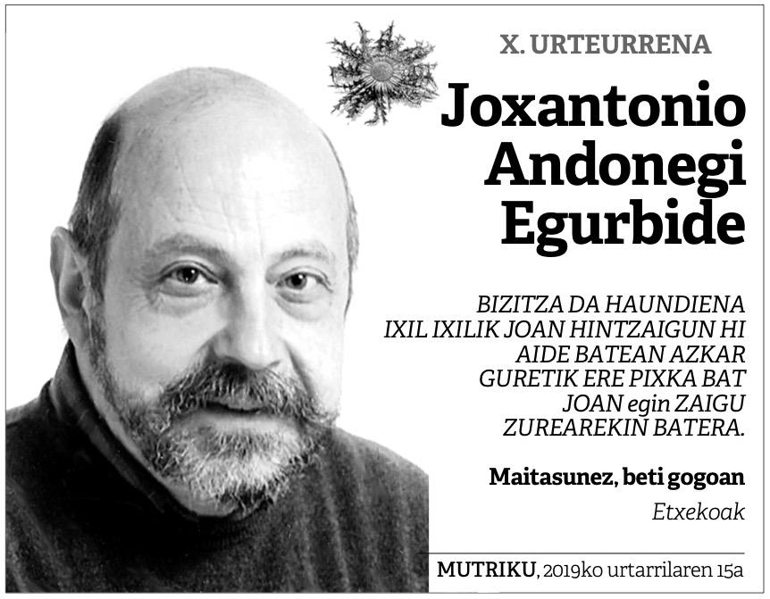 Eskela Joxantonio Andonegi Egurbide