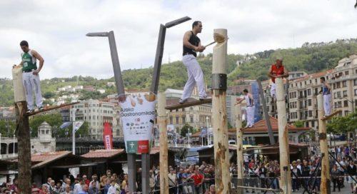 Aizkolari proba Bilbon. Argazkia: Basque Sports